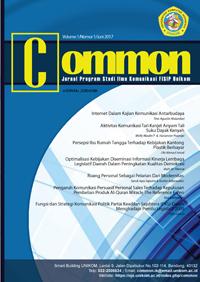 Jurnal Common Volume 1 No 1