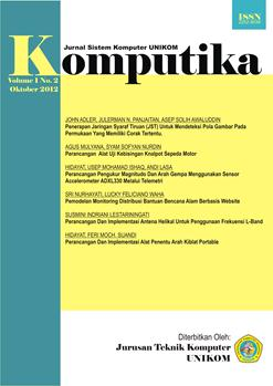 Jurnal Komputika, Vol. 1, No. 2, Oktober 2012