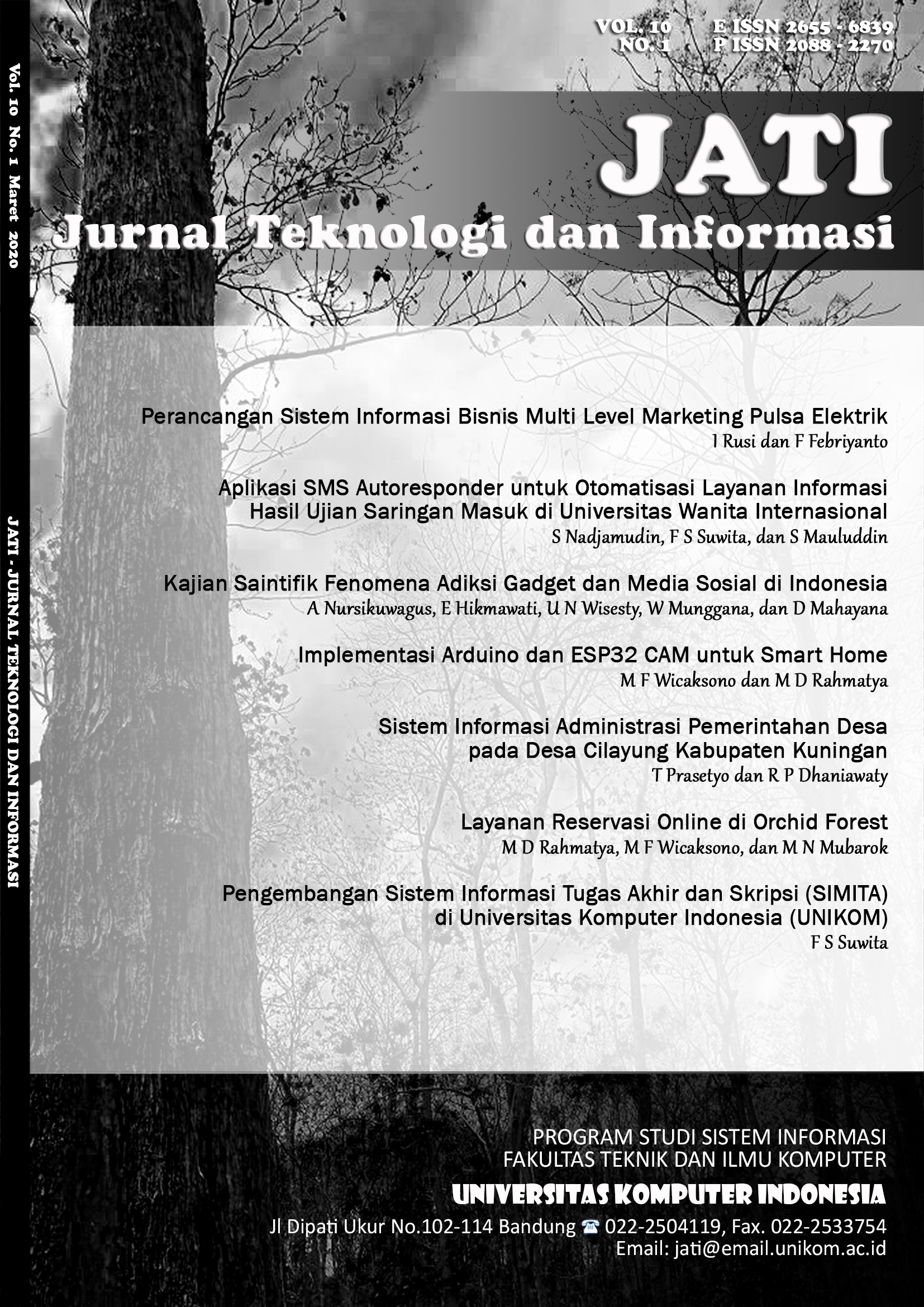 Jurnal Teknologi Dan Informasi Jati