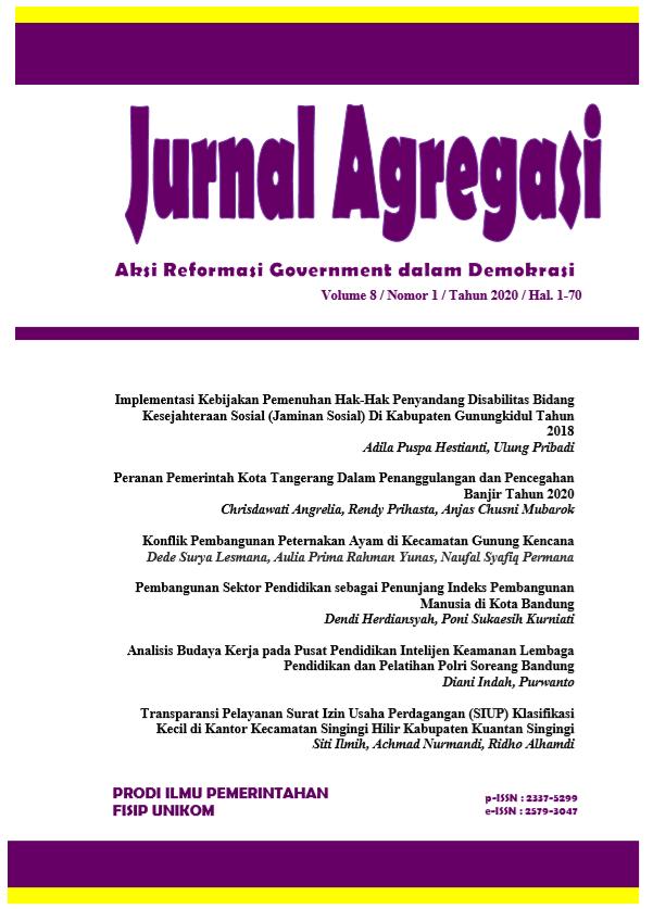 Jurnal Agregasi, Volume 8 Nomor 1, Tahun 2020